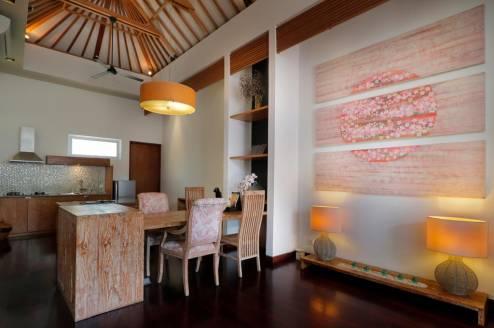 seiryu villas royal pool villa accommodation dining area